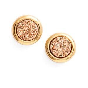 Gorjana Astoria Rose Gold Druzy Studs